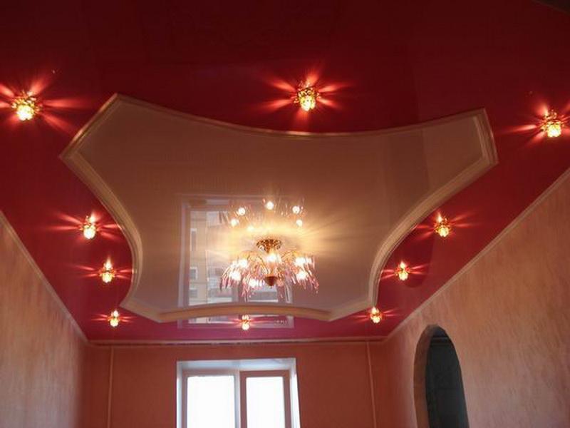 Натяжные и подвесные потолки фото