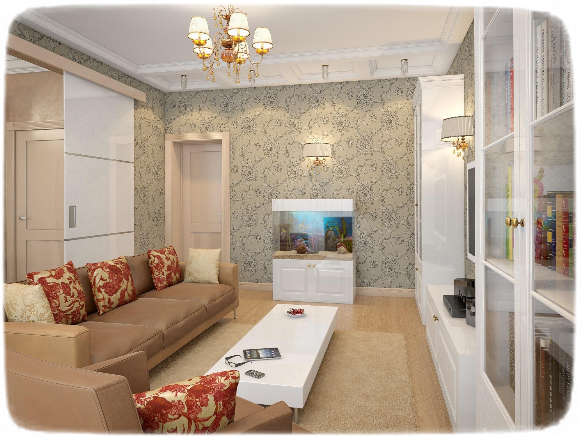 Дизайн двухкомнатной квартиры 100