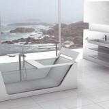 Стеклянная ванна – роскошь в интерьере
