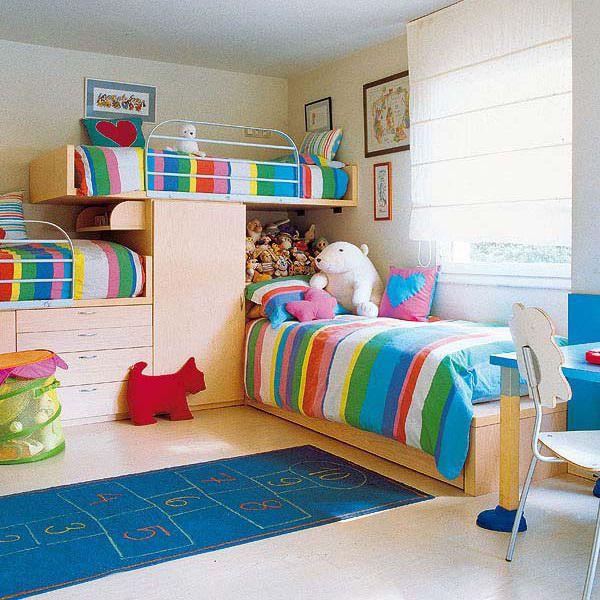 Childrens Bedroom Style Ideas: Детская для троих детей