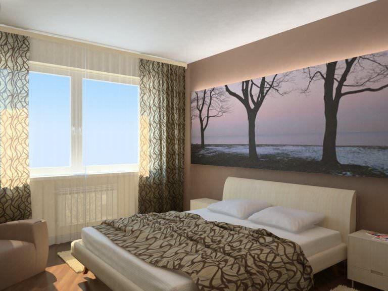 Дизайн спальни под ключ