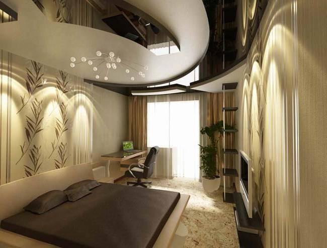 Ремонт спальни с балконом