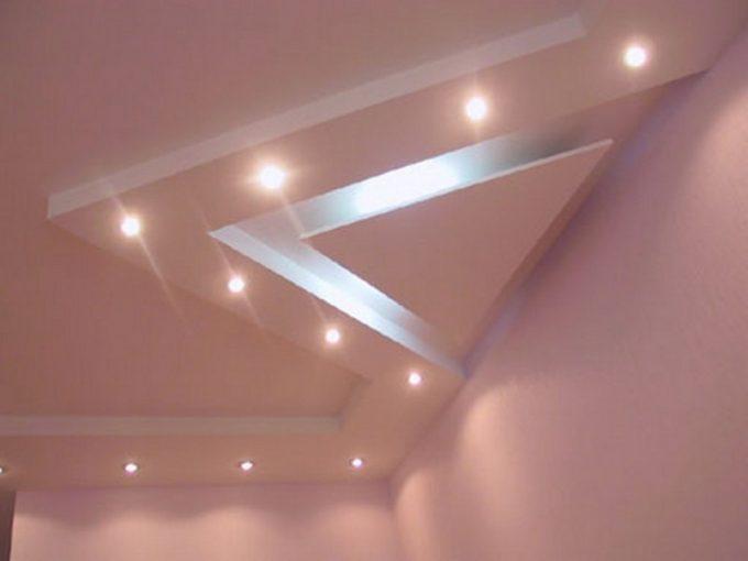 как украсить потолок из гипсокартона
