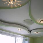 монтаж освещения потолка из гипсокартона