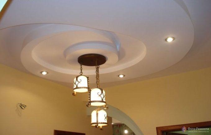 образцы подвесных потолков из гипсокартона