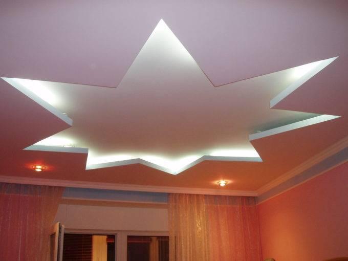 потолок звездочкой