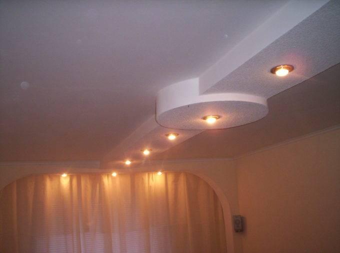 узорные потолки из гипсокартона фото