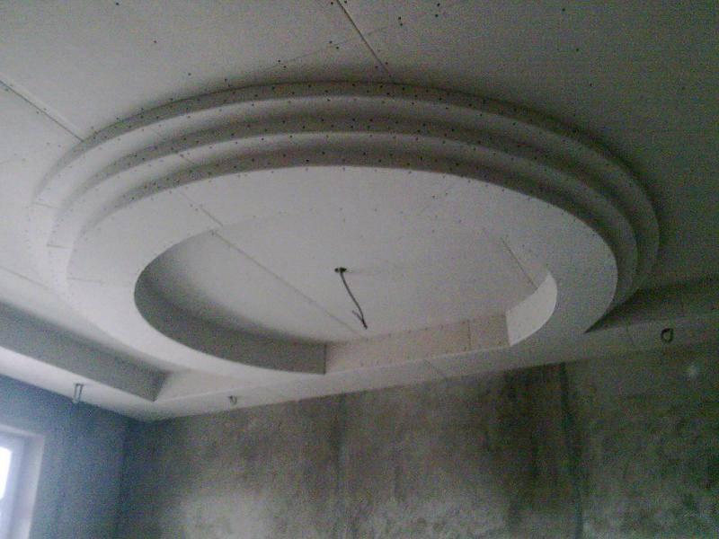 потолки из гипсокартона стоимость монтажа