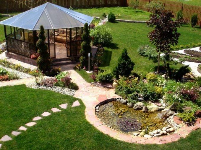Ландшафтный дизайн дома фото