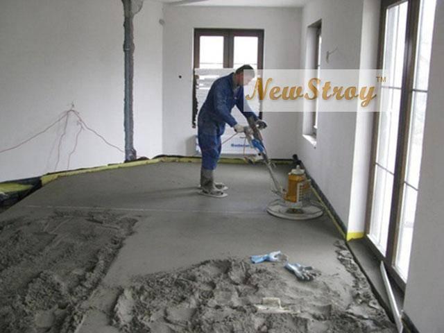 Цена стяжки пола песчано цементным раствором выпил бетон