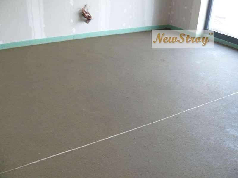 Цементная стяжка в квартире