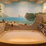 необычный дизайн ванной комнаты