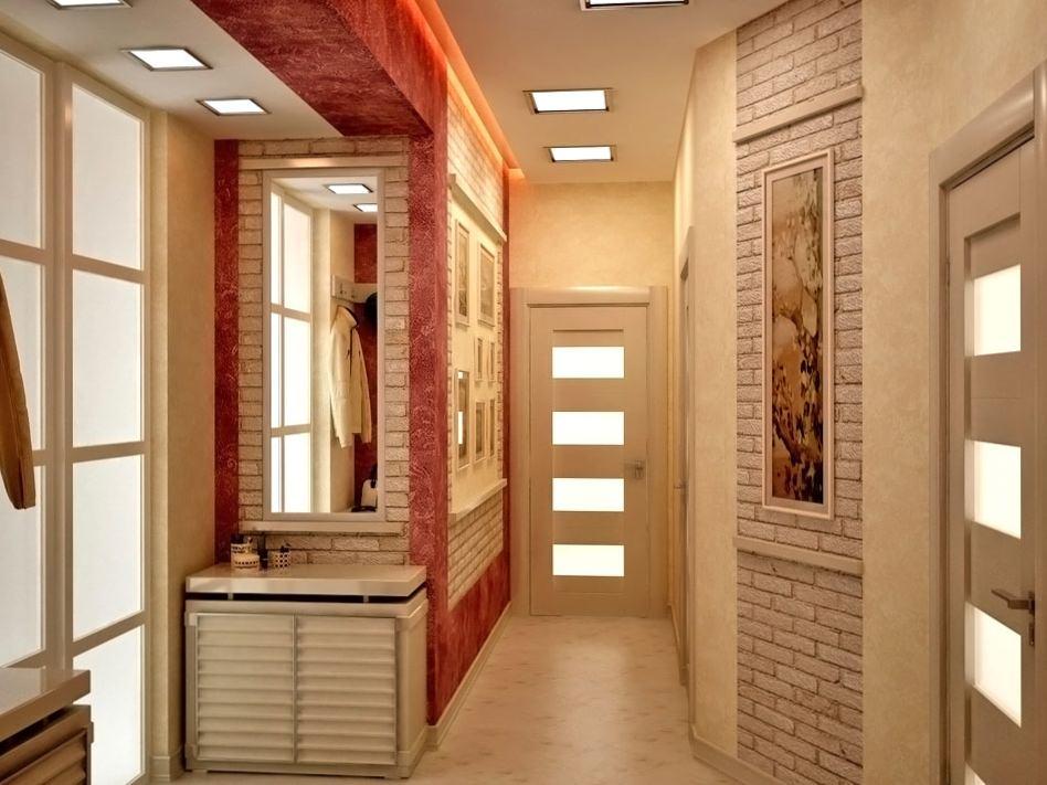 Фото идеи отделки стен в прихожей