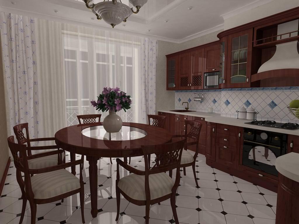 Фото дизайна классических кухонь