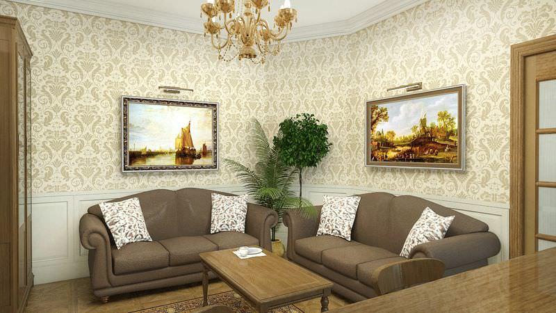 Простой дизайн гостиной фото