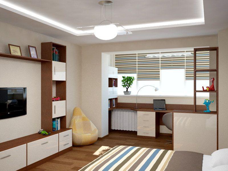 Дизайн комнат с балконом для мальчиков.