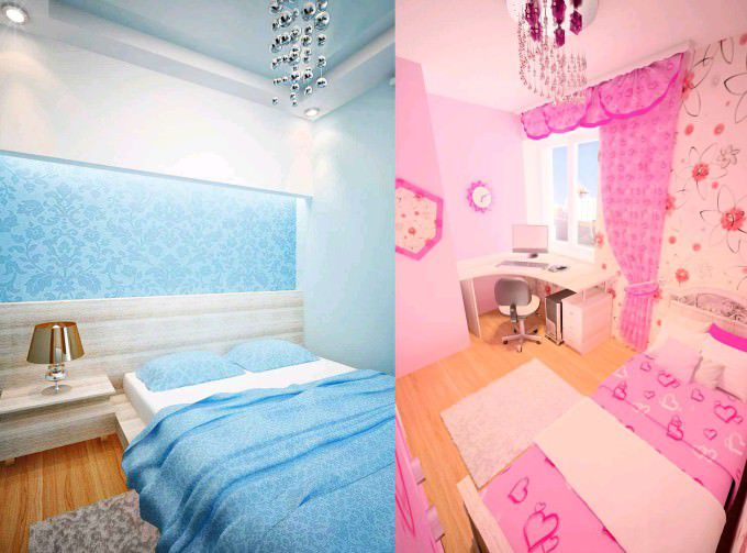 Две комнаты с контрастными дизайнами