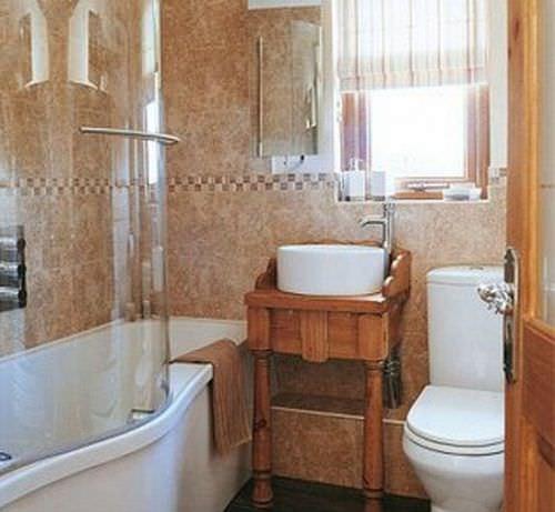 дизайн ванной комнаты в панельном