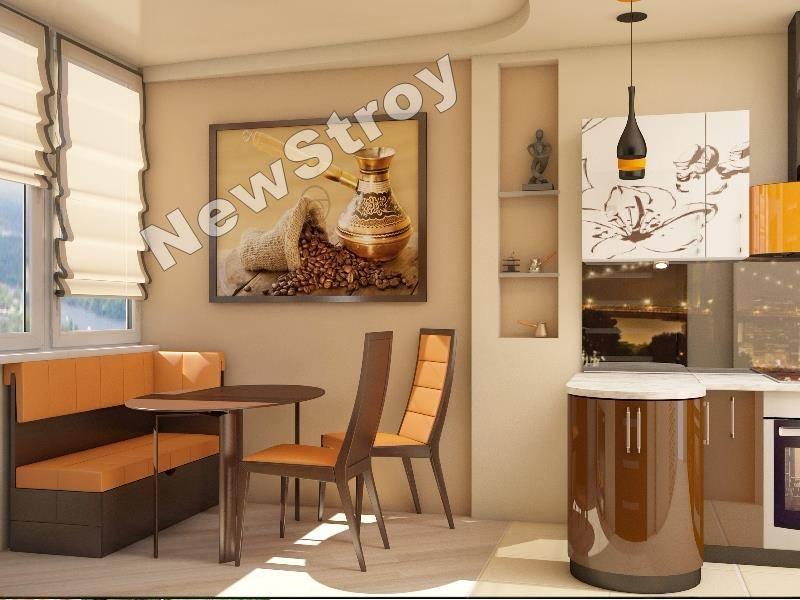 Дизайн 1 комнатной квартиры на ул Майорова7