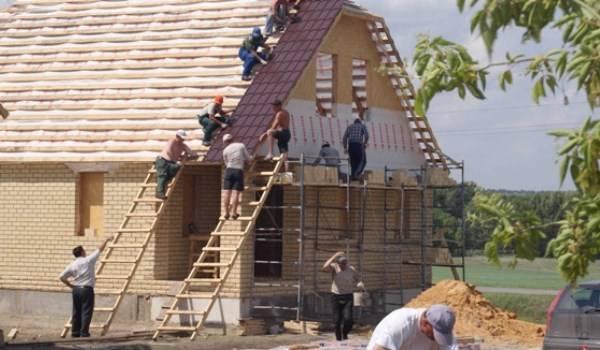 Строительство коттеджей из кирпича