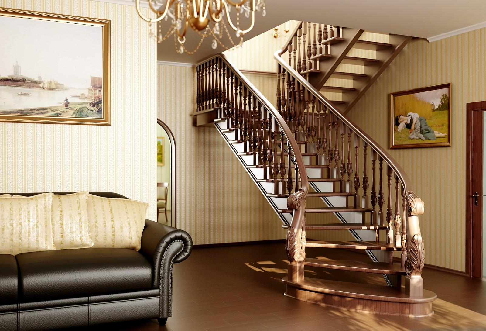 Стандартная деревянная лестница или сказочная стеклянная, чему отдать свое предпочтение?
